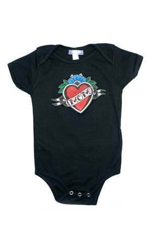 Rock n Roll Babies Mom Tattoo Snap Suit