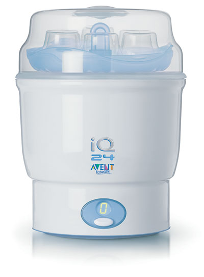 The Avent iQ 24 Electronic Steam Sterilizer can give you peace of mind.