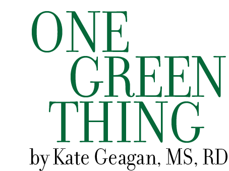 One green thing