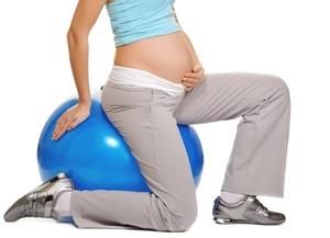 Pregnancy yoga ball