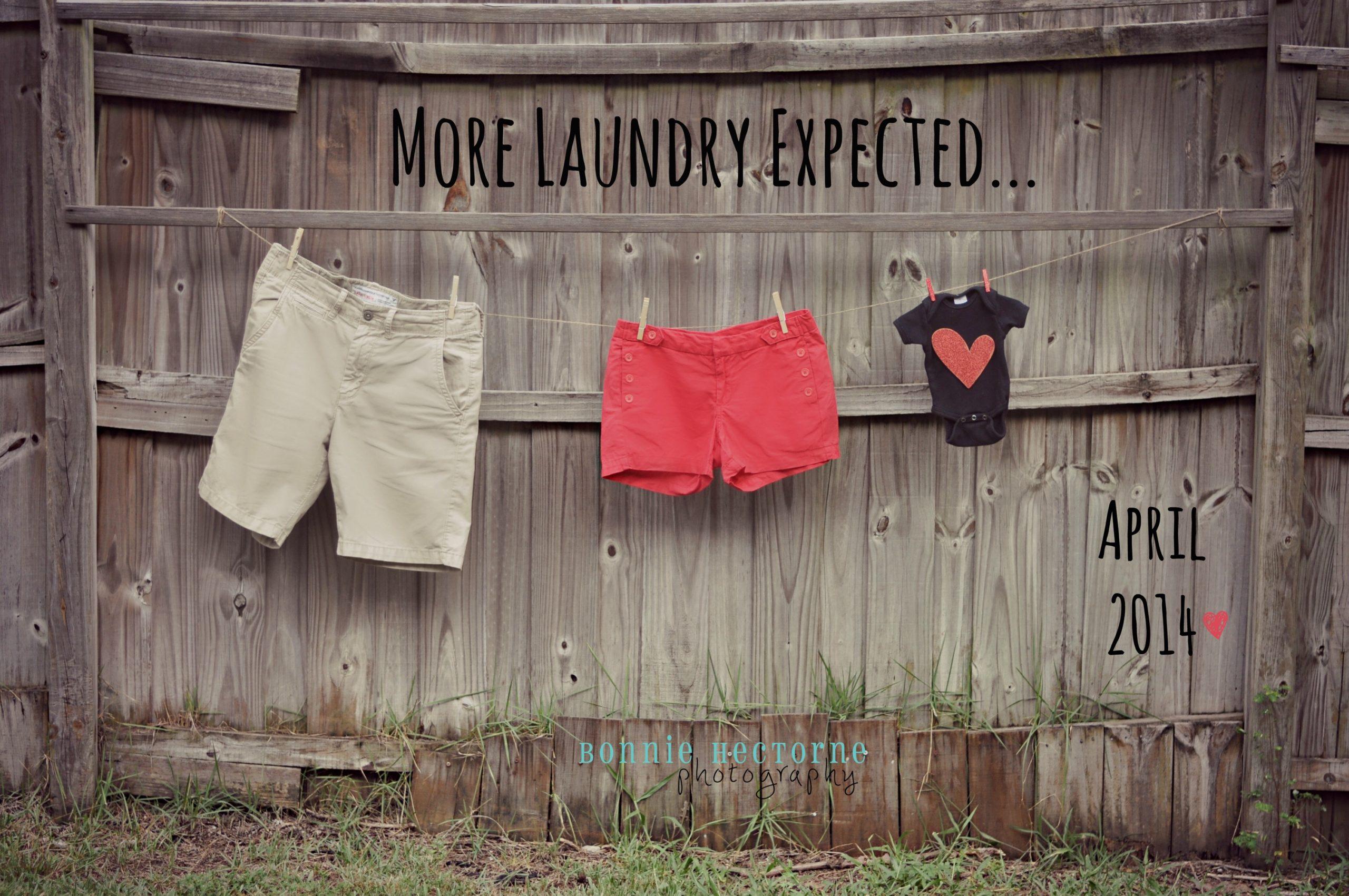 laundry pregnancy announcment
