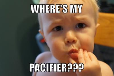 baby pacifier meme