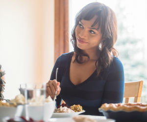 Woman on Thanksgiving