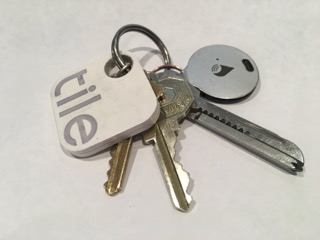Keychain with Tile and Trackr trackers