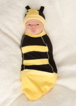 cute, easy, and safe baby swaddle