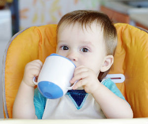 baby drinking milk