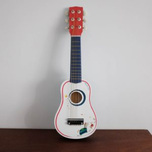 wooden toy guitar
