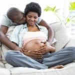 Black pregnant couple