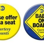 Baby on Board subway button