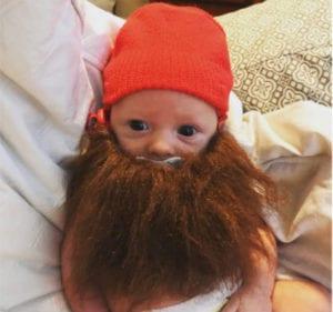 bearded baby halloween