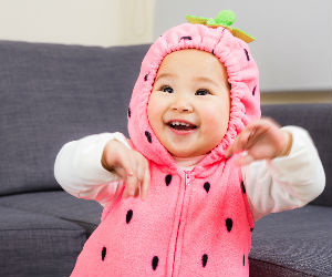 cute baby in costume
