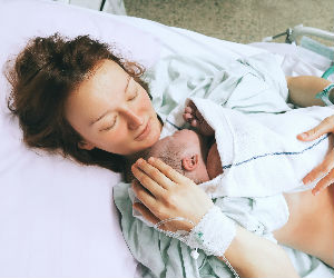 new mom and newborn baby