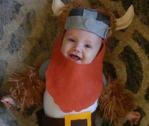 viking baby halloween costume