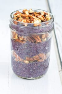Blueberry Pie Chia Parfait