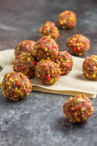 Strawberry Pistachio Energy Balls for pregnancy hunger