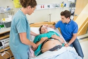 Dad in the delivery room